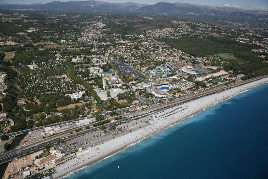 La bande littorale à Antibes